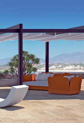 Find Your Shade Under this Patio Retractable Roof System